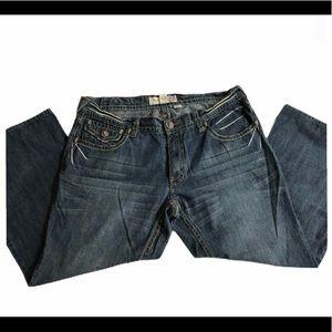 Laguna Beach- SKULL jeans rare GREEN Stitch